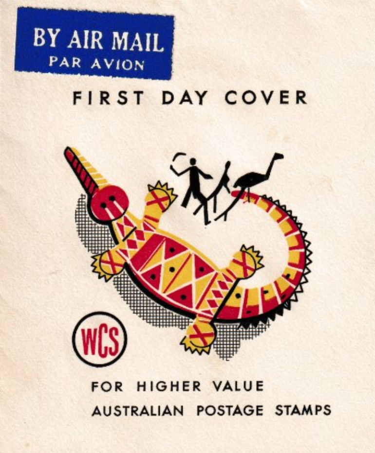 .<br />Australia, 26 July 1961, aboriginal theme logo on WCS First day cover
