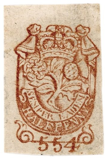 Type 2a Newspaper Tax stamp 1728/29