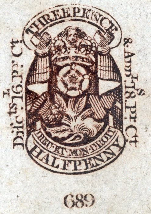 Type 11 Newspaper Tax Stamp 1805-1807
