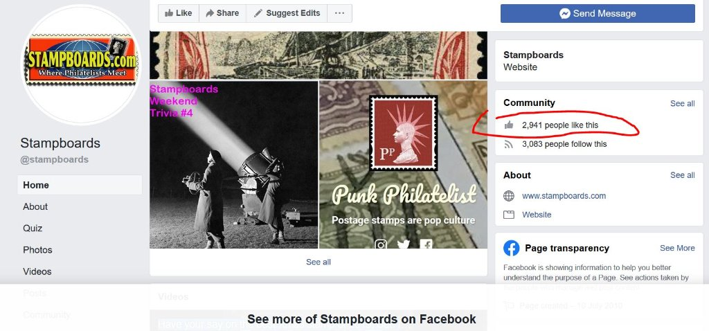 Stampboards Facebook reaching 2941 - make it 3000!
