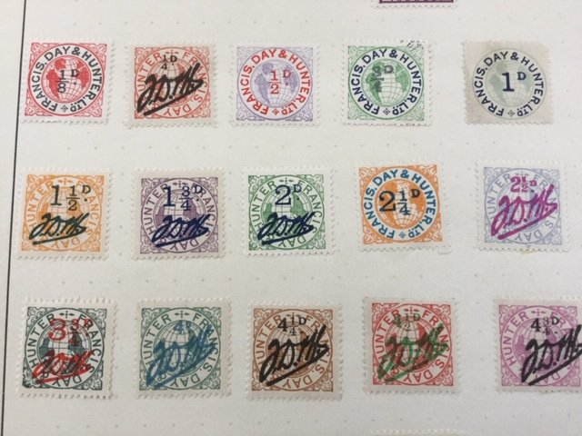 England Francis Day Hunter Copyright stamps