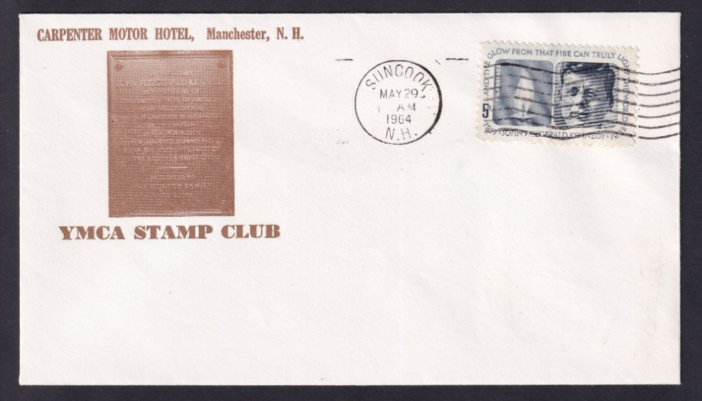 JFK fdc unknown cachet (Mellone #164) postmarked Salisbury North Carolina