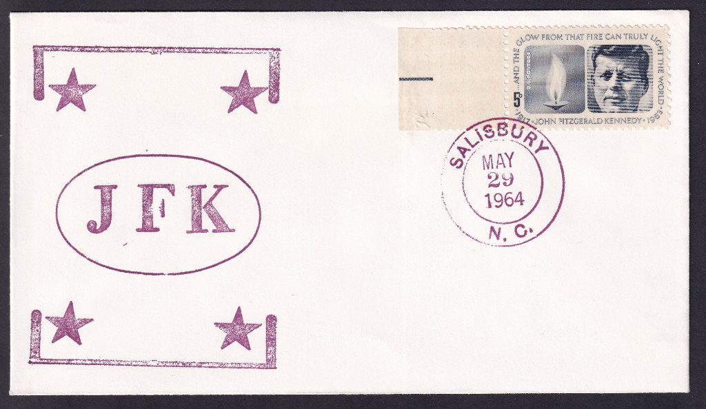 JFK fdc YMCA Stamp Club cachet (Mellone #156) postmarked Suncook New Hampshire