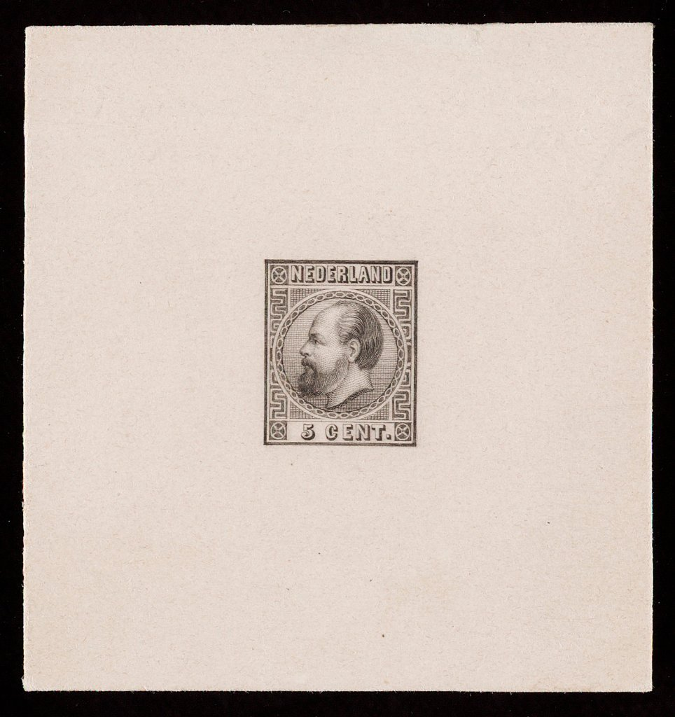 Proof of the first engraving for the 1867 issue