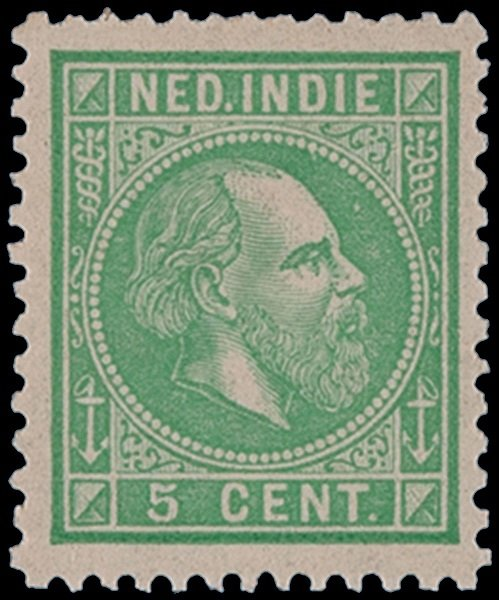 5 cent of the 1870  issue of Netherlands Indies
