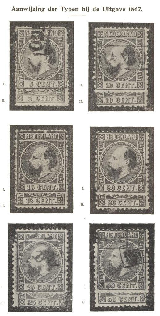 """Indication of the types of the 1867 issue"""