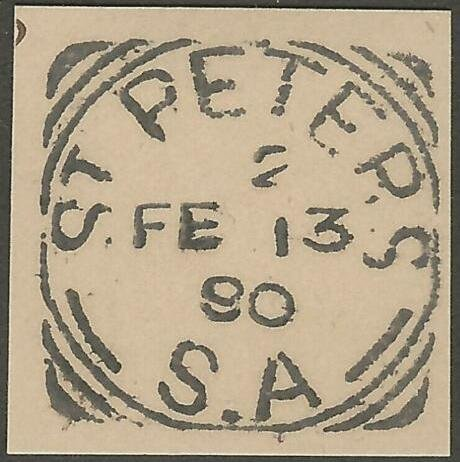 St Peters - 13/2/1890 - Index 2 - Squared Circle Postmark