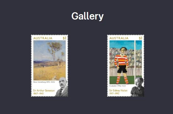 Australia Stamp Issue - Sir Sydney Nolan Sir Arthur Streeton 30 March 2017