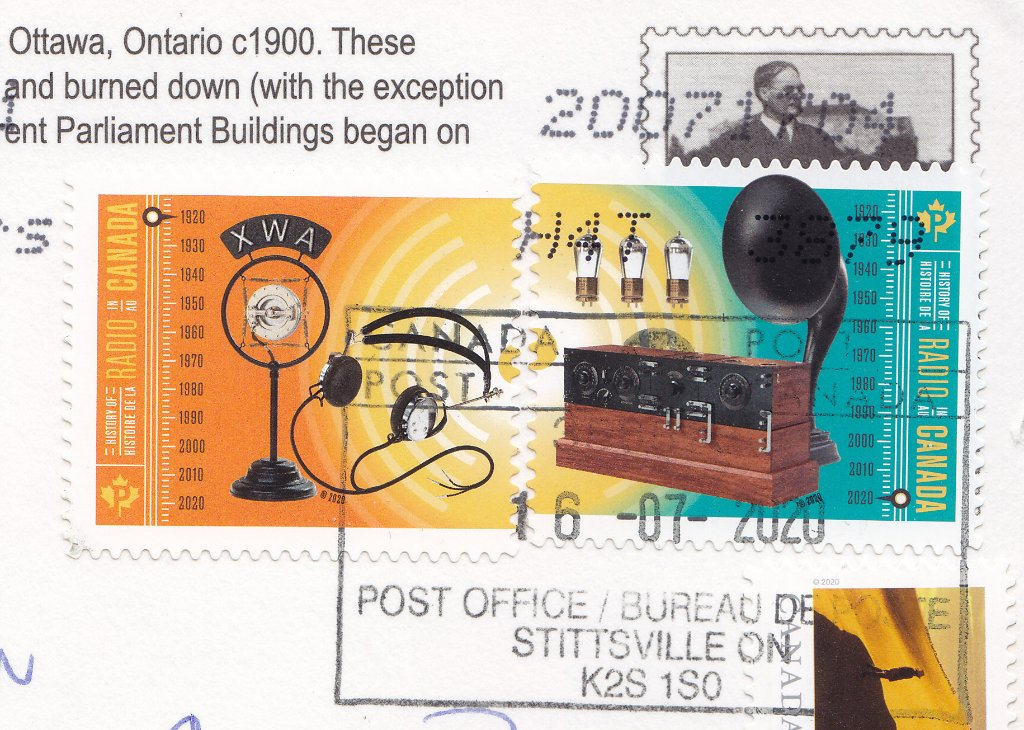Stamp: Canada, 2020, History of Radio in Canada.