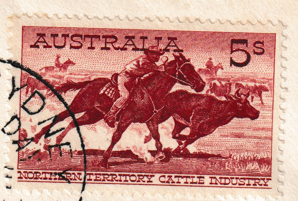 1961 First Day Cover By Airmail with Aboriginal Stockman Stamp