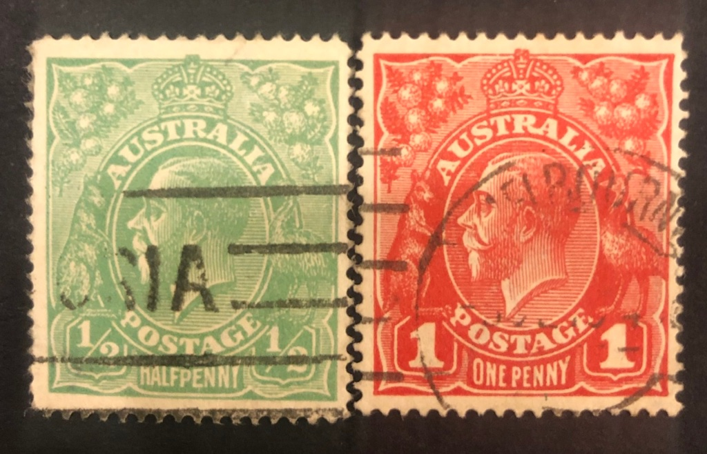 Two stamps show different perfs
