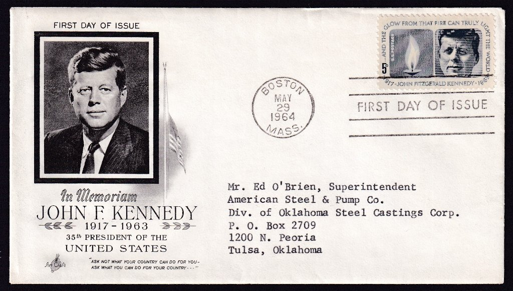JFK fdc 1964 - Boston Union Carbide 1.jpg