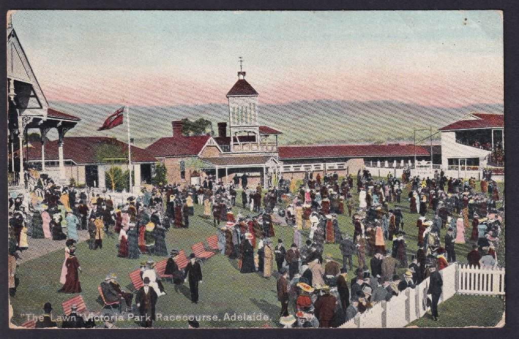 The Lawn Victoria Park Racecourse Adelaide - colourised