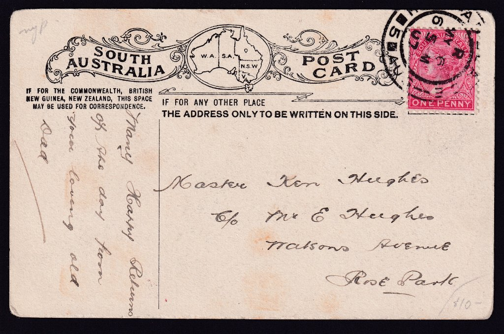 Adelaide cds Postmark - 6th May 1907