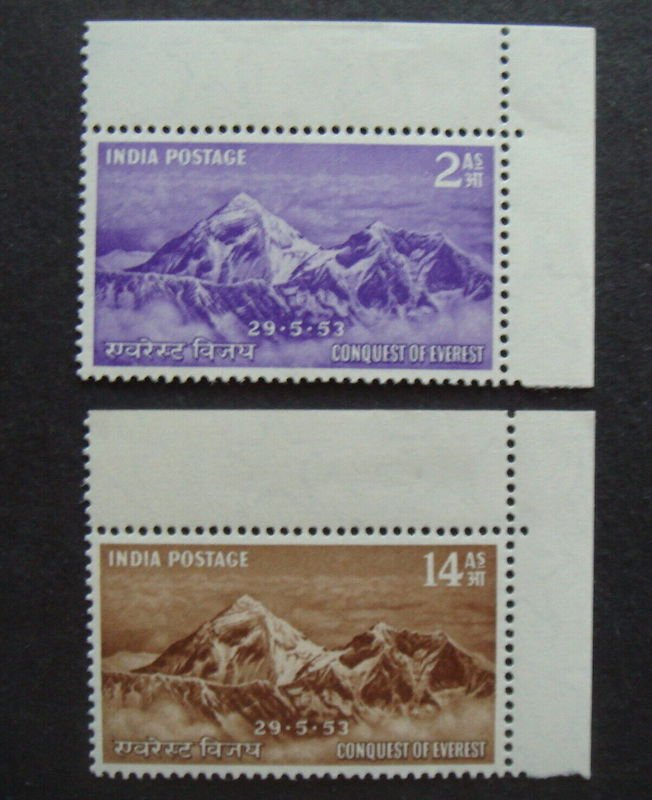 .<br />India, 1953: Celebrating the Comquest of Everest, SG 344-5