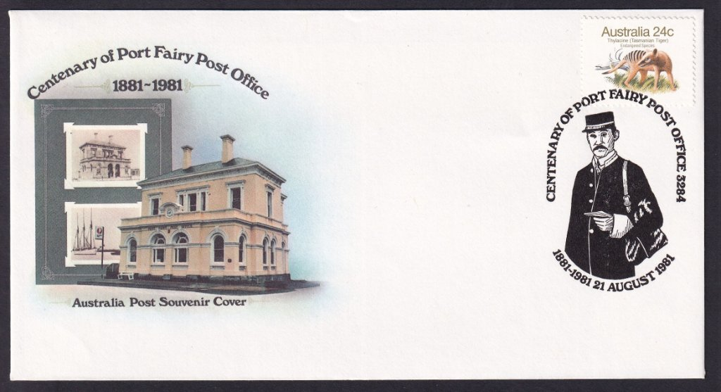Centenary of Port Fairy Souvenir Cover & postmark 1881- 1981 (APM #10020)