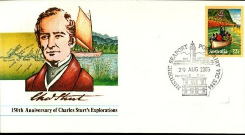 New Pictorial Postmark for Port Fairy show the Light House & original Post Office introduced 29th August 2005 (APM #37400)