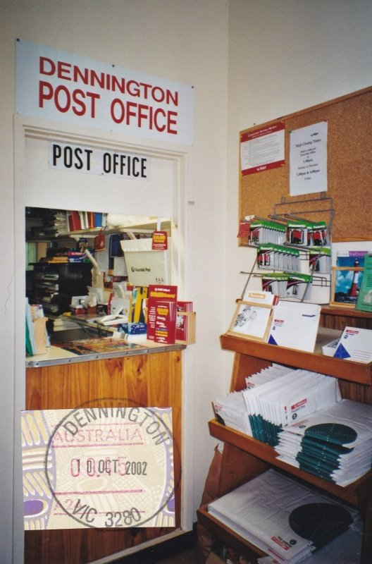 Inside Dennington General Store and Post Office. 2002. Peggy Hayes photo.