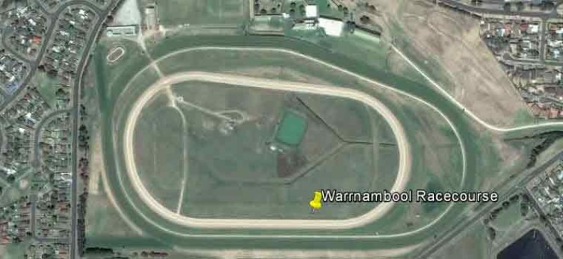 Aerial view of the racecourse.