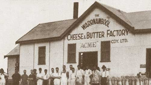 Warrnambool Cheese & Butter Factory at Allansford.