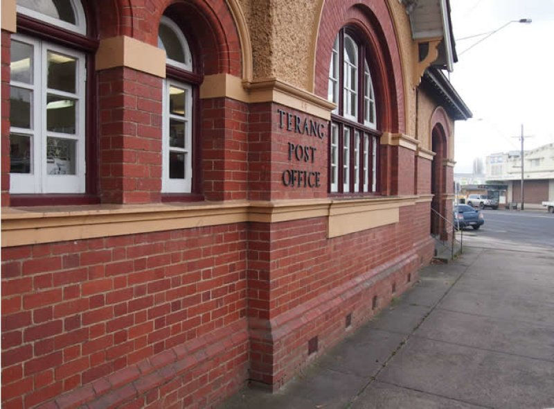 Terang Post office close-up.