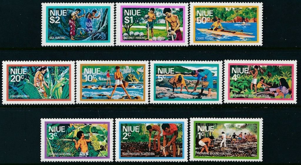 .<br />Niue, 1976: Food and agriculture definitive set