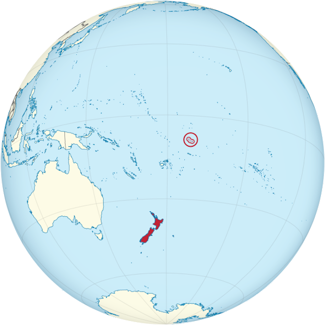 .<br />Location map of Tokelau