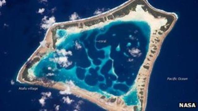 .<br />Tokelau — satellite image