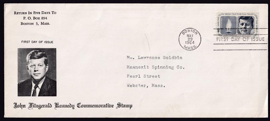 Unknown cachet for JFK Scott #1246 5c stamp fdc, not in Mellone.