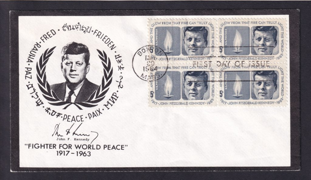 JFK Scott #1246 5c stamp fdc - Martin - Pre Border Craft cachet (Mellone #111)
