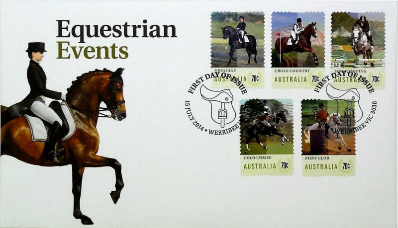 Equestrian Events FDC. Werribee 2014.
