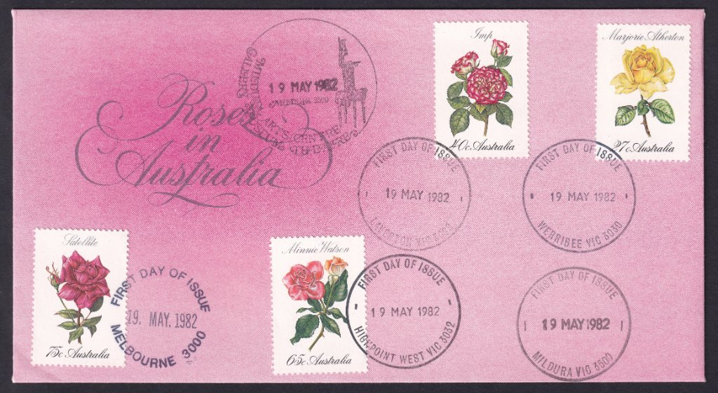 Australia Post Roses fdc issued 19th May 1982