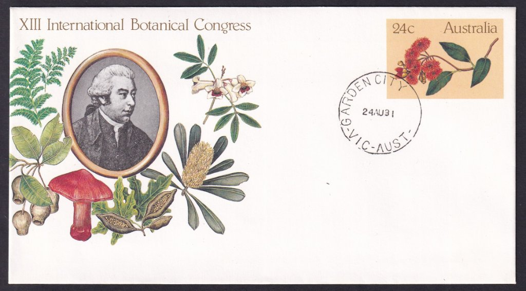 XII International Botanic Congress pse postmarked on fdi with Garden City cds 24th August 1981.