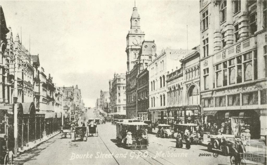 Bourke Street and GPO Melbourne