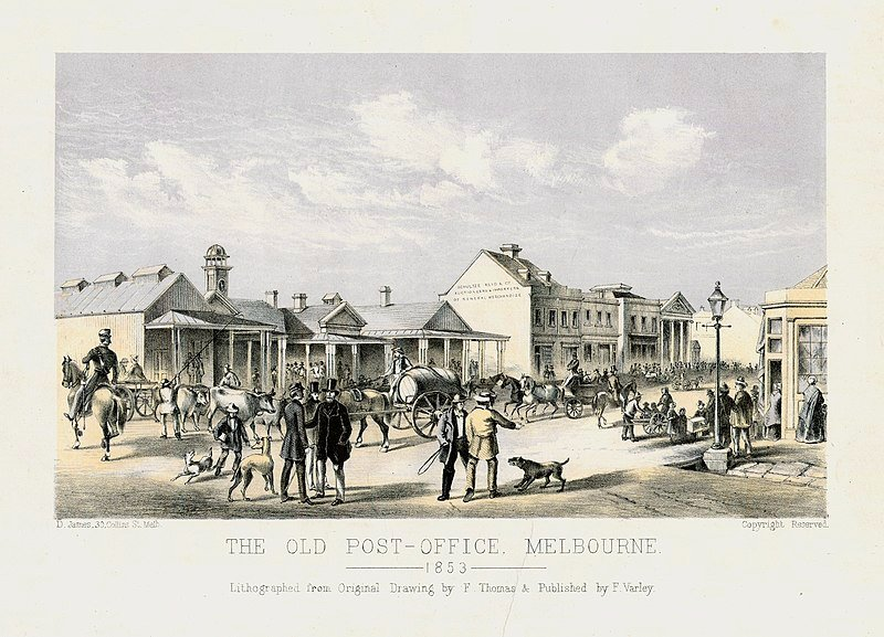 The Old Post Office Melbourne 1853