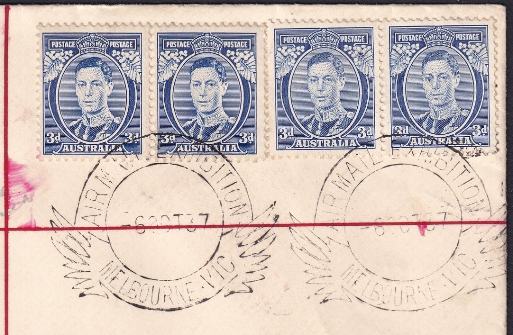 Airmail Exhibition pictorial postmark - 6th October 1937 (APM #410)