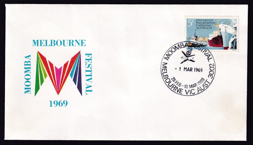 Melbourne Moomba Festival 1969 Souvenir cover with Moomba pictorial postmark (APM #2690) - 1st March 1969