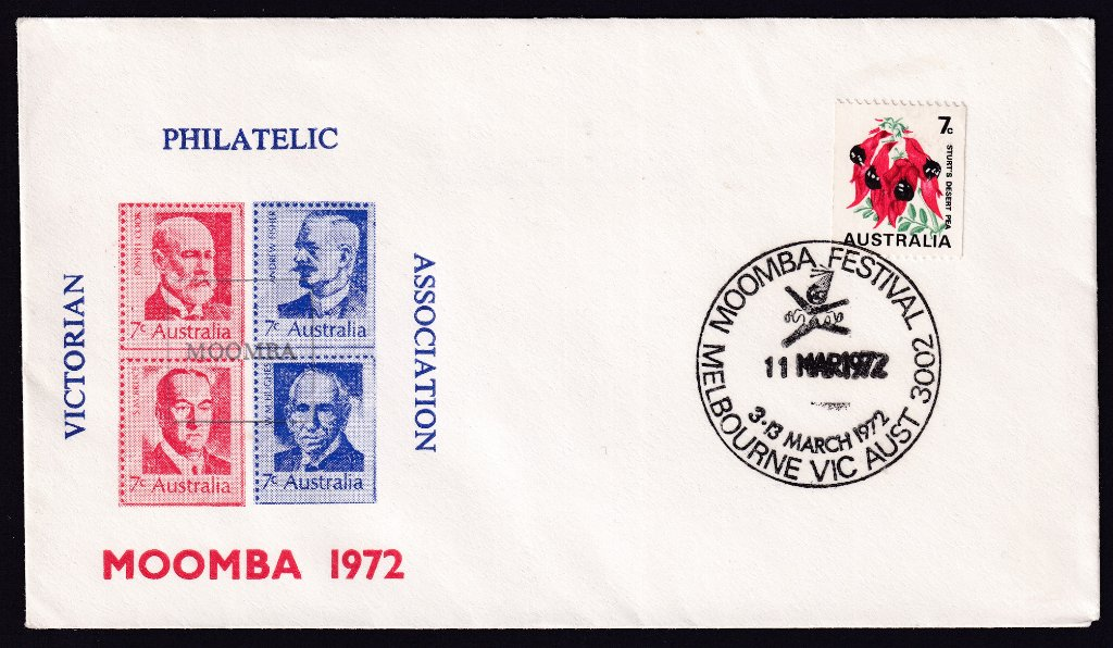 Melbourne Moomba Festival 1972 Souvenir cover with Moomba pictorial postmark (APM #4605) - 11th March 1972