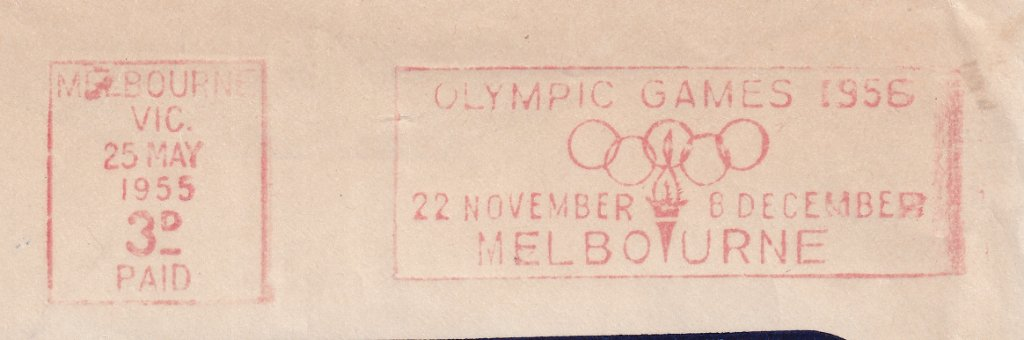 Olympic Games 1956, 22nd November to 8th December Melbourne