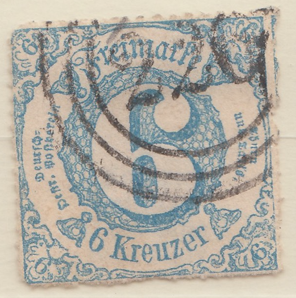 Thurn and Taxis with three ring cancel. Number 220 (226?).