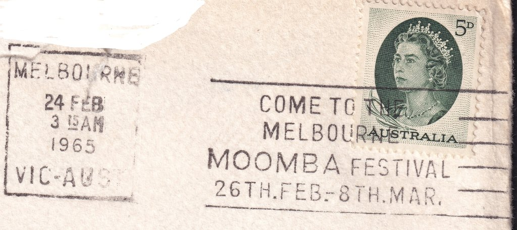 Come to the Melbourne Moomba Festival 26th Feb to 8th Mar on piece - 24th February 1965