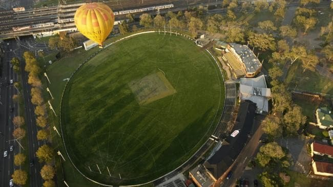 The Punt Road Oval, Richmond from the air