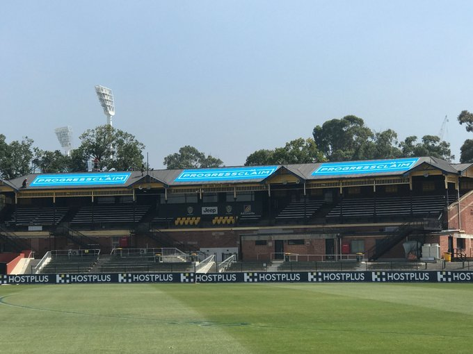 The Punt Road oval grandstand