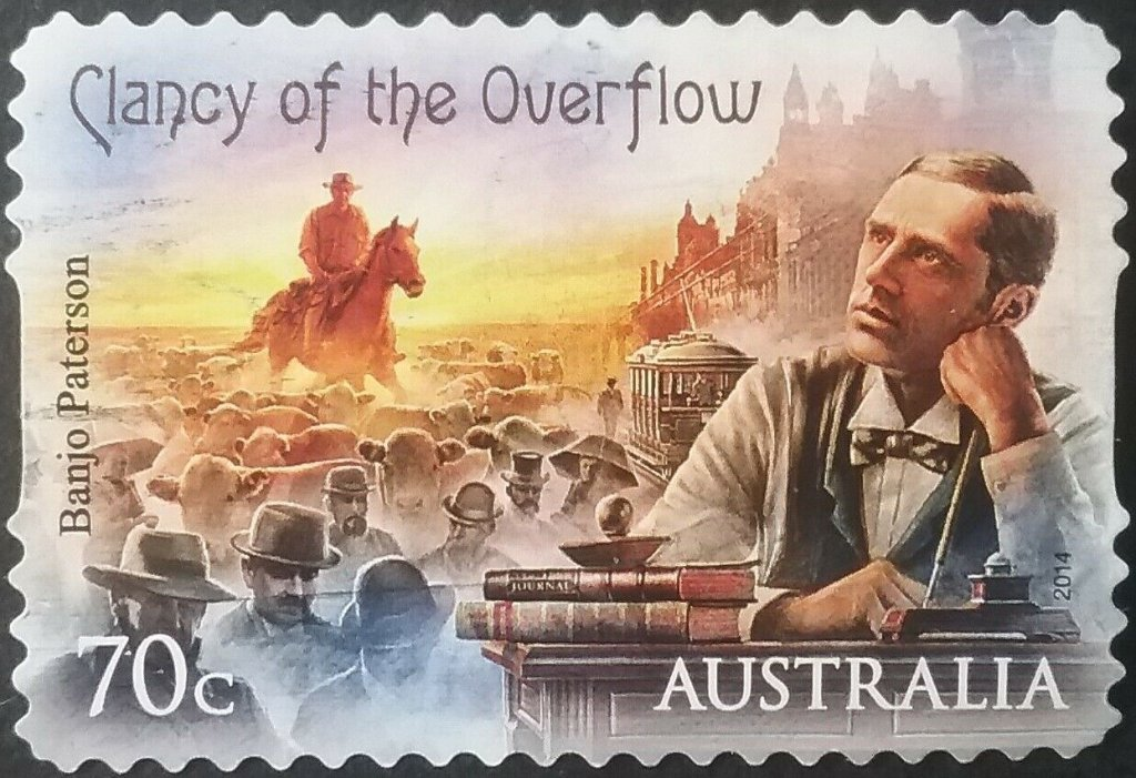 Clancy of the Overflow 70c stamp
