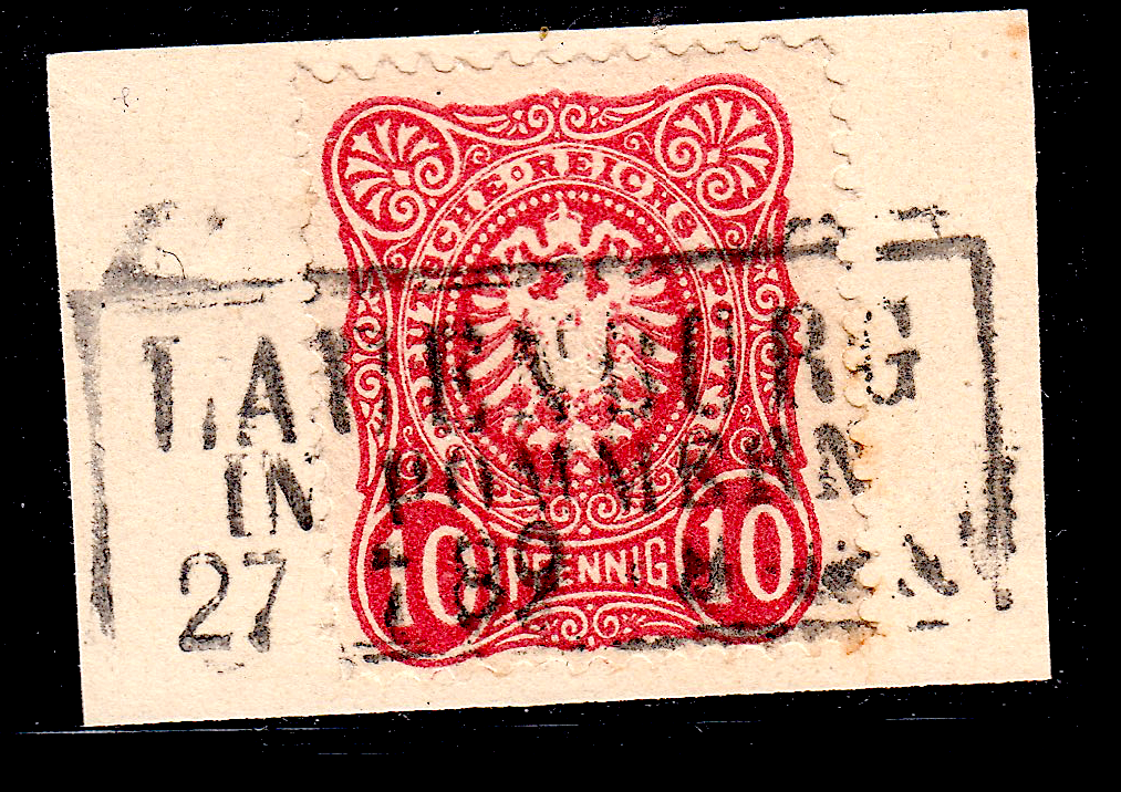 German postage stamps. Rahmenstempel example on pieces (11).