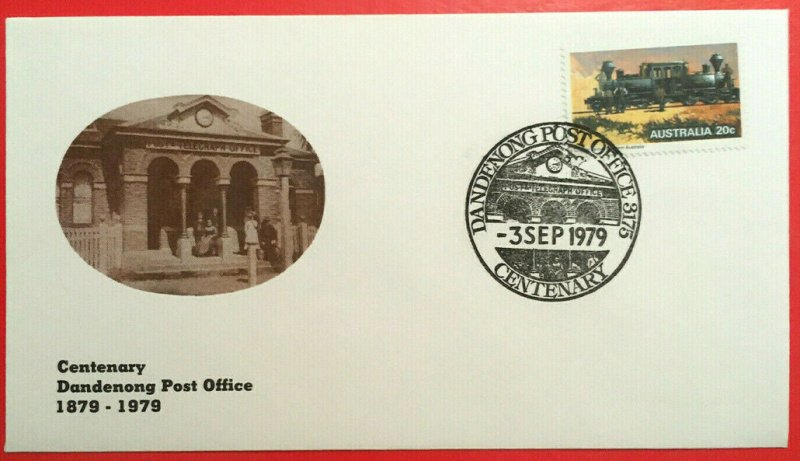 Centenary of Dandenong Post Office commemmorative cover. 1979.