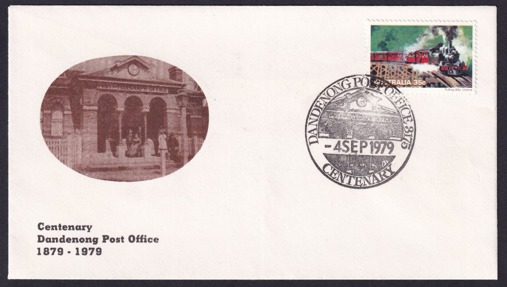 Australia Post Souvenir cover for the Centenary of the Dandenong Post Office - 4th September 1979 (APM #7740)