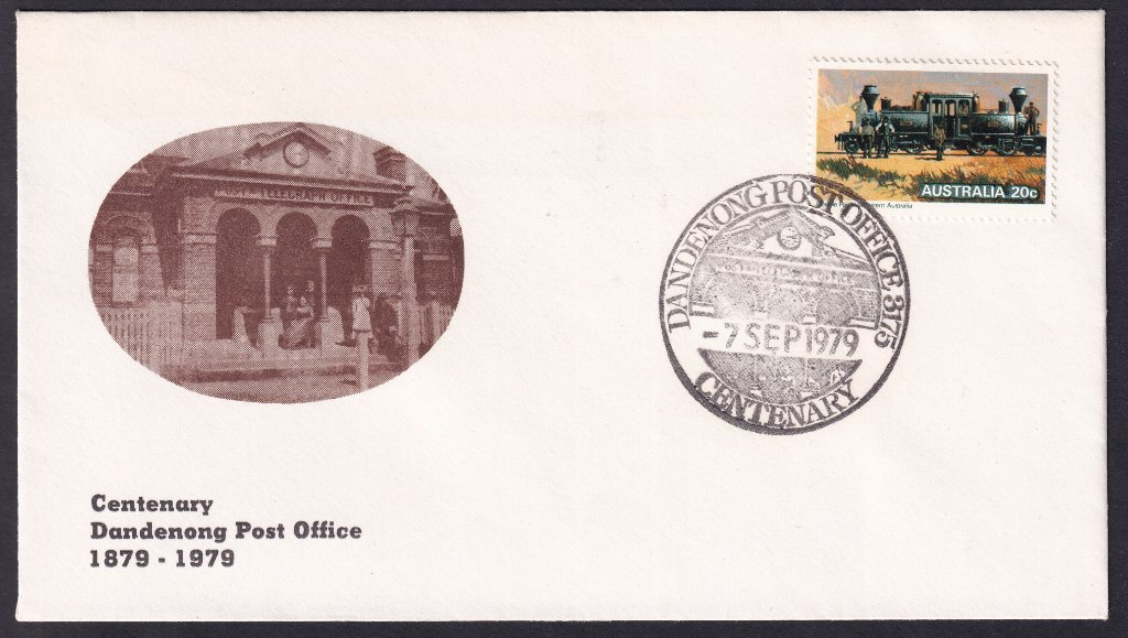 Australia Post Souvenir cover for the Centenary of the Dandenong Post Office - 7th September 1979 (APM #7740)