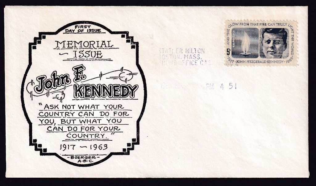 Boerger ABC cachet JFK Fdc Scott #1246 (Mellone #30)