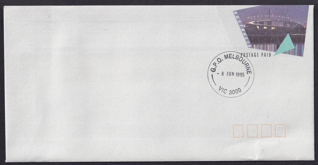 West Gate Bridge postage paid envelope issued 8th June 1995.